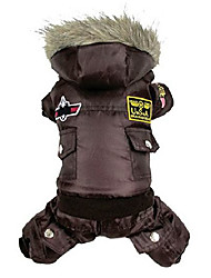 cheap -selmai medium dog clothes winter coat hooded usa air-force large trench coat pet dog jumpsuit brown 2xl