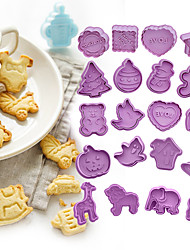 cheap -Halloween Party 4pcs Plastic Cookie Cutters DIY Biscuit Molds for Hollaween Christmas Valentine and Thanksgiving day