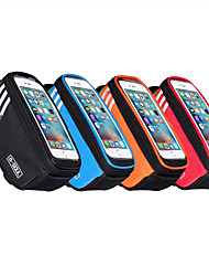 cheap -Waterproof Bicycle Bag Nylon Bike Cyling Cell Mobile Phone Bag Case 5.7''Bicycle Panniers Frame Front Tube Bags Accessories