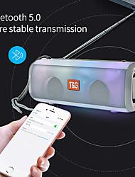 cheap -Wireless Bluetooth Speaker FM Radio LED Flash Light Portable Loudspeaker Wireless Column With FM Adjustable Antenna