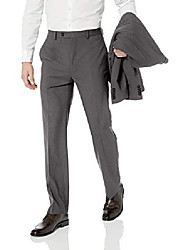 cheap -men's all american classic fit suit separate pant, grey sharkskin, 36w x 30l