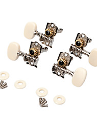 cheap -NAOMI Ukulele String Tuning Pegs Open Gear White Machine Heads 4 String Tuners Ukulele Parts & Accessories