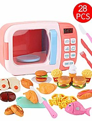 cheap -children microwave toy kitchenware playset electric timing simulation pretend play set for kids birthday gift