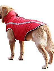cheap -warm fleece dog winter coat waterproof dog jacket apparel reflective dog snowsuit for medium large dogs