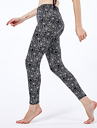 cheap -Women's Sporty Yoga Comfort Skinny Halloween Leggings Pants Print Ankle-Length High Waist Black