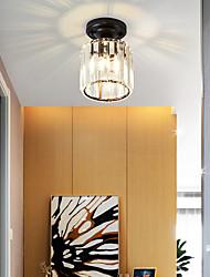 cheap -12cm LED Crystal Corridor Lamp LED Ceiling Light Gold Black Kitchen Entrance Hall Porch Balcony Lamp Flush Mount Lights Electroplated Modern 110-120V 220-240V