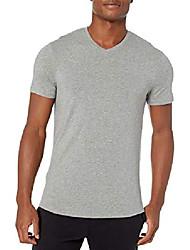 cheap -amazon brand - men's pima cotton modal v-neck t-shirt, light grey heather, x-large