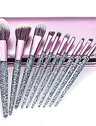 cheap -makeup brushes 12pcs premium makeup brush set with black wood handle for foundation blending blush concealer eye shadow face cosmetic brushes