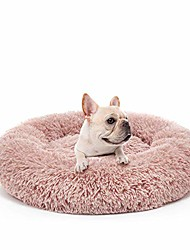 cheap -dog bed anti-anxiety calming pet beds plush donut round cuddler cushion,washable,23.6''