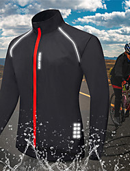 cheap -WOSAWE Men's Cycling Jersey Summer Bike Jacket Windbreaker Top Waterproof Windproof Quick Dry Sports Solid Color Red / Black Clothing Apparel Bike Wear / Long Sleeve / Athletic / Lightweight