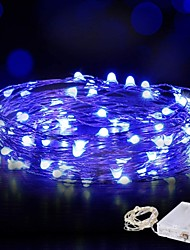 cheap -10m String Lights 100 LED Waterproof Wire Fairy String Lights 4pcs 2pcs 1pc for Christmas Wedding Home Holiday Party Room Outdoor Decoration Warm White White Blue