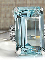 cheap -vintage women silver aquamarine gemstone ring wedding jewelry size (9)
