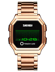 cheap -SKMEI Men's Digital Watch Digital Modern Style Stylish Classic Water Resistant / Waterproof Digital Rose Gold Black Gold / One Year / Stainless Steel / Calendar / date / day / Shock Resistant