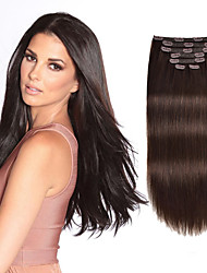 cheap -Clip In Hair Extensions Remy Human Hair 7pcs 7 PCS Pack Straight Natural Hair Extensions