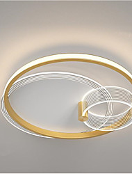 cheap -45cm Geometric Art LED Ceiling Light Gold Black Simple Modern Warm Romantic Nordic Dining Room Bedroom Lamps