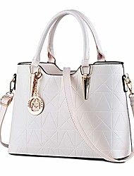 cheap -womens leather shoulder bag tote purse fashion top handle satchel handbags purple