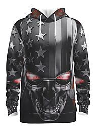 cheap -Men's Halloween Pullover Hoodie Sweatshirt Graphic Skull Star Hooded Basic Halloween Hoodies Sweatshirts  Long Sleeve Black