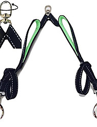cheap -double dog leash coupler with two padded handles, no tangle splitter swivel, reflective stitching, 1 inch wide, adjustable 18-24 inches, strong lead for walking 2 large or medium dogs