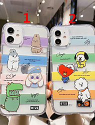cheap -Case For Apple Scene Map iPhone 12 11 Pro Max XS Max Cartoon Series Pattern TPU Material Transparent Air Pressure Drop Resistant Mobile Phone Case