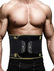 cheap -back brace, lumbar support belt waist backbrace for back pain relief, sciatica, scoliosis and herniated disc, compression belt for men and women with detachable spring strip - s