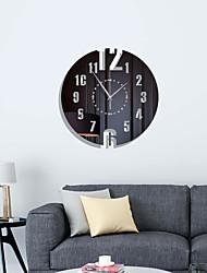 cheap -3D Wall Clock Mechanism Clock Mirror Wall Stickers Removable Art Decal Sticker DIY Wall Clocks Home Decor Living Quartz Needle