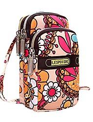 cheap -kimloog cellphone pouch floral print wristlet purse mini shoulder crossbody bag handbags (e)