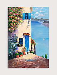 cheap -Oil Painting Hand Painted Vertical Landscape Modern Stretched Canvas