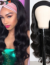 cheap -Synthetic Wig Wavy Body Wave With Headband Wig Long Very Long Natural Black Synthetic Hair Women's Soft Classic Cool Black / African American Wig