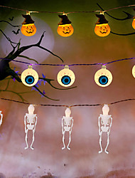 cheap -Halloween Lights Pumpkin String Lights Spider Ghost Eyeball Skeleton Palm Festival Party Holiday Halloween Decoration Supply LED Toys without Battery