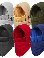 cheap -Men's Women's Hiking Hat 1 PCS Winter Outdoor Portable Warm Soft Comfortable Hat Solid Color Cotton Black Red Army Green for Fishing Climbing Camping / Hiking / Caving
