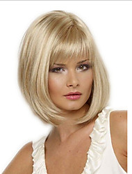 cheap -Synthetic Wig Curly kinky Straight With Bangs Wig Short Light Blonde Synthetic Hair Women's Fashionable Design Party Easy to Carry Blonde