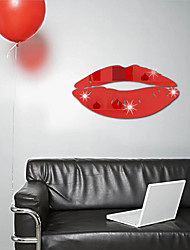 cheap -Red Lips 3D Mirror Wall Stickers Home Decor Art Decal Wall Stickers for Kids Room Living Room Decorating Mural Decoration