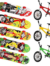 cheap -8 pcs Finger skateboards Mini fingerboards Finger Toys Plastic Metal Office Desk Toys Cool with Replacement Wheels and Tools Skate Kid's Teen Party Favors  for Kid's Gifts / Random Color