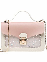 cheap -handbag women sequins satchel bag detachable strap fashion hasp shoulder bag(pink)