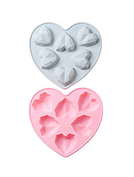 cheap -Silicone Cake Mold 6 With 3D Small Love DIY Aromatherapy Gypsum Glue Mold