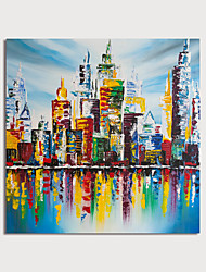 cheap -Oil Painting Hand Painted Square Abstract Landscape Modern Stretched Canvas