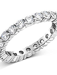 cheap -sz (12) 3.50mm sterling silver 925 cubic zirconia cz eternity engagement wedding band ring