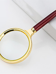 cheap -Portable HD 10X Jewelry Loupe Magnifier Led Handheld 80mm Golden Optical Glass Reading And Watch Repair Tool