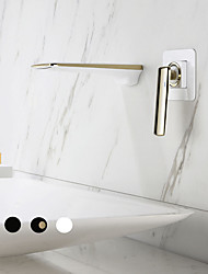 cheap -Bathroom Sink Faucet - Waterfall Painted Finishes Other Single Handle One HoleBath Taps