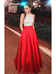 cheap -Women's Swing Dress Maxi long Dress - Sleeveless Color Block Sequins Patchwork Fall Sexy Party Vacation 2020 Red S M L XL