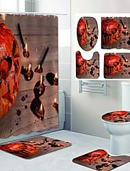 cheap -Fresh Seaside Pattern PrintingBathroom Shower Curtain Leisure Toilet Four-Piece Design