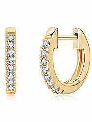 cheap -gold huggie earrings, 925 sterling silver post 14k gold plated small thin huggie earring cartilage hoop,tiny pave huggy earrings cz huggie hoop earrings hypoallergenic nickel free