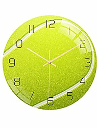 cheap -basketball football soccer golf baseball tennis wall clock bedroom livingroom alarm clock birthday chritmas gifts present for kids son boys baby child nba basketball mlb fans (tennis) 30cm*30cm