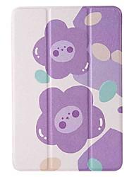 cheap -Case For Apple iPad mini 1/2/3 7.9'' iPad mini 4 7.9'' iPad mini 5 7.9'' with Stand Flip Pattern Full Body Cases Purple Flower PU Leather TPU