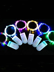 cheap -LED Fairy Lights String Lights Wedding Decoration 2m 20 LEDs Button Battery LED String Light Christmas Tree Wedding Party Gift Silver Wire String 10 to 30 Pieces