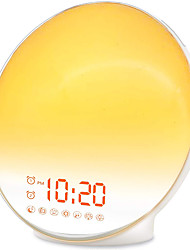 cheap -Wake Up Light Sunrise Alarm Clock for Kids Heavy Sleepers Bedroom with Sunrise Simulation Sleep Aid Dual Alarms FM Radio Snooze Nightlight Daylight 7 Colors