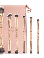 cheap -7 Pcs Makeup Brush Set Double-Ended Eye Shadow Makeup Brush Rose Gold Portable Eye Brush For Beginners