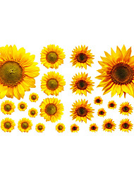 cheap -New Sunflower Self Adhesive Wall Stickers Creative Children's Room Wall Decoration PVC