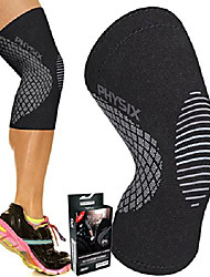 cheap -physix gear knee support brace - premium recovery & compression sleeve for meniscus tear, acl, mcl running & arthritis - best neoprene stabilizer wrap for crossfit, squats & workouts