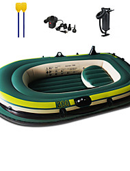 cheap -2 Persons Inflatable Boat Set with Hand Air Pump Air Pad French Oars PVC Portable Folding Fishing Boating Water Sports 230*130*35 cm